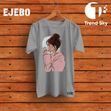 Ejebo Round Neck Coffee T-Shirt - Ambitionmart