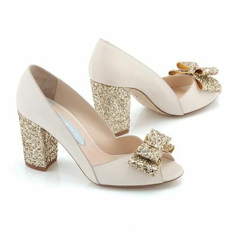 PF Fashion Golden Bow Heel - Ambitionmart