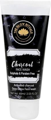 The Glow Rituals Activated Charcoal with Aloe Vera Extract Face Wash (60 ml) - Ambitionmart