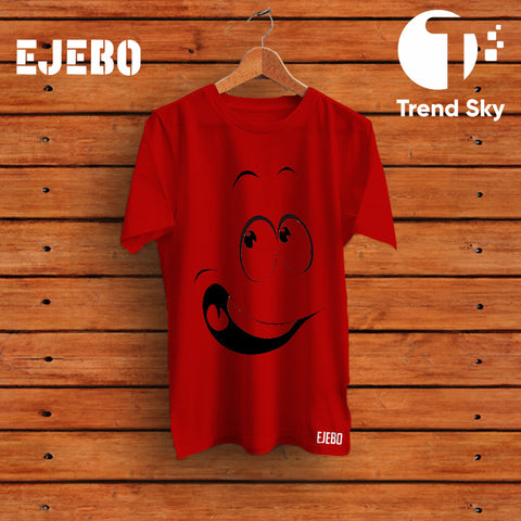 Ejebo Round Neck Unisex Naughty Smile T-Shirt - Ambitionmart