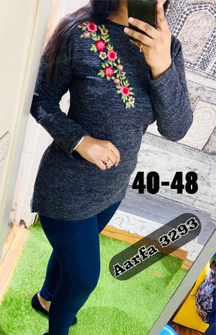 Aarfa Woollen Top 3293 - Ambitionmart