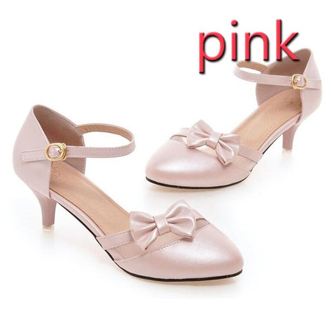 PF Fashion Pink Heel With Bow - Ambitionmart