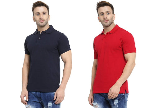 Ejebo Collar T-Shirt 2 pc Combo For Mens - Ambitionmart