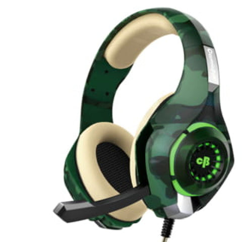 COSMIC BYTE GS410 HEADPHONES WITH MIC (CAMO GREEN) - Ambitionmart