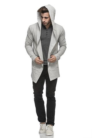 Ejebo Gray Cardigan TJ5401-GRAY - Ambitionmart