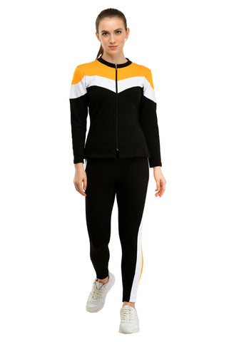 KA Styles Sleep to Jogg Trendy Gold Yellow Tracksuits For Girls - Ambitionmart