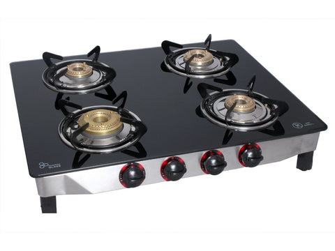 UGI Glass 4 RB Stainless Steel Gas Stove (4 Burners) - Ambitionmart