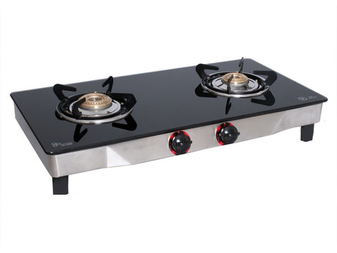 UGI Glass 2 RB Stainless Steel Gas Stove (2 Burners) - Ambitionmart