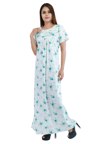 Floral Cotton Nighty - Ambitionmart