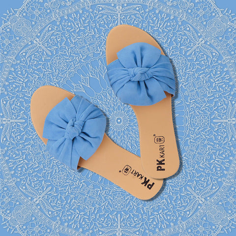 PKKART Blue Flats For Women and Girls (N-001-AQB) - Ambitionmart