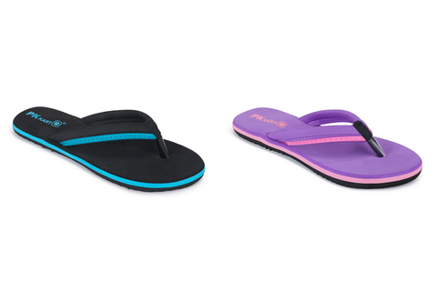 PKKART Multicolor Flip Flop Combo Pack Of 2 (FFF-020-SKB+PR) - Ambitionmart