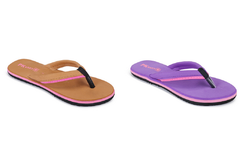 PKKART Multicolor Flip Flop Combo Pack Of 2 (FFF-020-TN+PR) - Ambitionmart