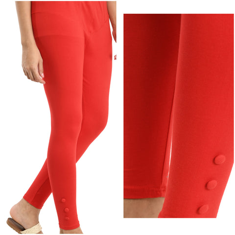 KA Styles designer ankle length strechy legging with side buttons - Ambitionmart