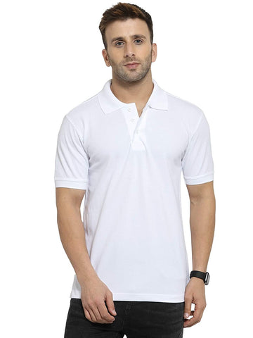 Ejebo White Collar T-Shirt For Mens - Ambitionmart