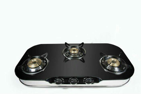 UGI Glass 3 RB Stainless Steel Gas Stove (3 Burner) - Ambitionmart