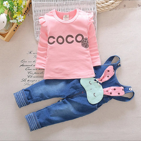 Top And Dungaree Set For Girls