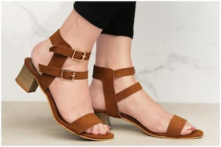 PKKART Tan Heels For Women and Girls (LH-002-TN) - Ambitionmart