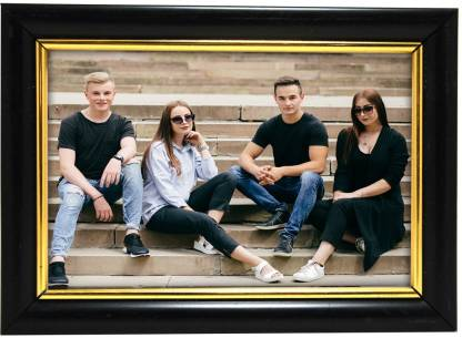 Black & Gold Wood Photo Frame - Ambitionmart