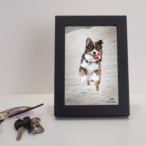 Black Rectangular Wooden Photo Frame - Ambitionmart