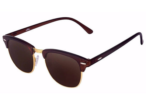 Ejebo Clubmaster Brown Sunglasses TD-BRW-02 - Ambitionmart