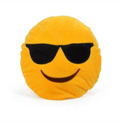 Ejebo Cool Dude Smiley Decorative Cushion - Ambitionmart
