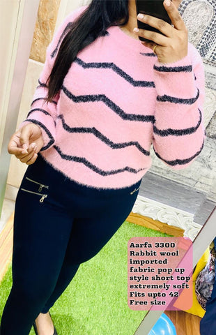 Aarfa Rabbit Woollen Short Top 3300 - Ambitionmart