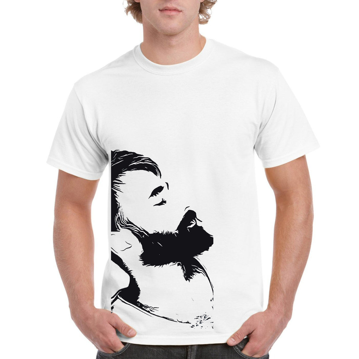 f4121414d Men's Printed Round Neck T-Shirt @ Rs. 399.00