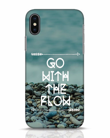 Go With The Flow iPhone X Mobile Cover - Ambitionmart