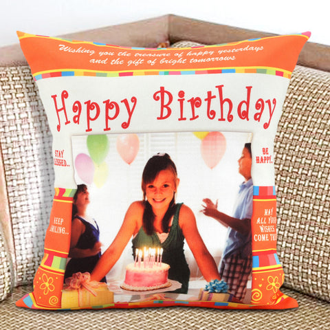 Ejebo Happy Birthday Personalized Cushion - Ambitionmart
