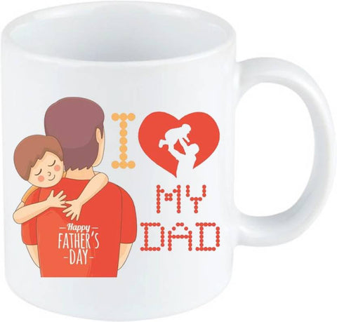 I Love My Dad Printed Ejebo Ceramic Coffee Mug - Ambitionmart