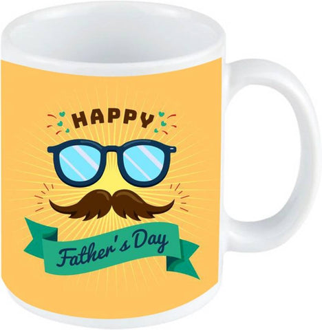 Happy Father's Day Printed Ejebo Ceramic Coffee Mug - Ambitionmart