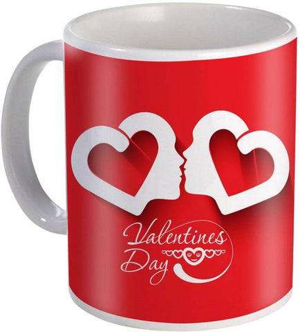 Ejebo Heart Shape Valentines Day Printed Coffee Ceramic Mug - Ambitionmart
