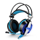 KOTION EACH OVER EAR HEADSET - GS700 (BLACK/BLUE) - Ambitionmart