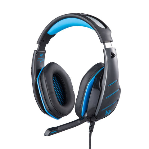 KOTION EACH GS800 OVER EAR GAMING HEADPHONES WITH MIC AND LED (BLACK/BLUE) - Ambitionmart