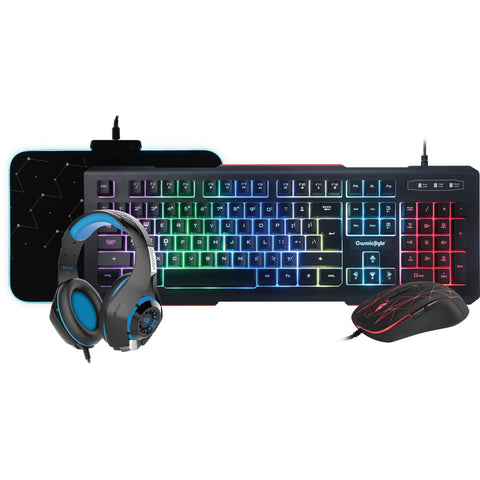 Cosmic Byte Solar Gaming Essentials 4 in 1 Combo (Keyboard, Mouse, Mousepad, Headphone) - Ambitionmart