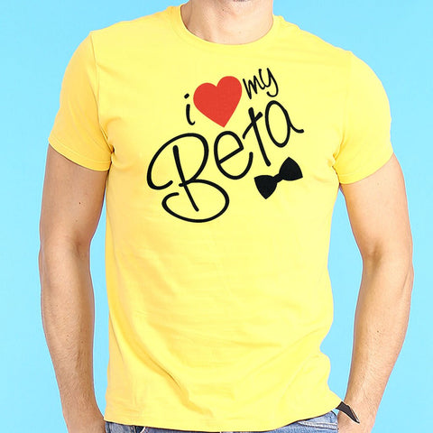 I Love My Beta Printed Round Neck T-Shirt - Ambitionmart