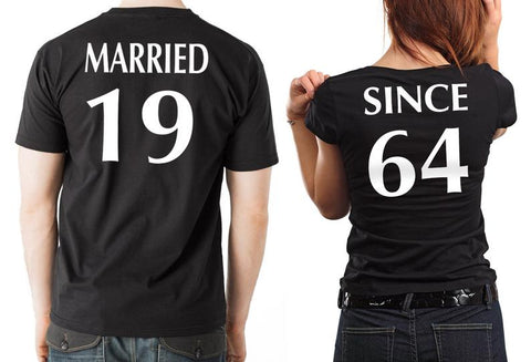 "Couple T-Shirt 2pc Set ""Married Since"" - Ambitionmart"