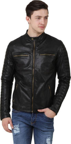 Ejebo Full Sleeve Solid Black Men's Jacket - Ambitionmart