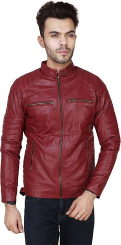Ejebo Full Sleeve Solid Red Men's Jacket - Ambitionmart