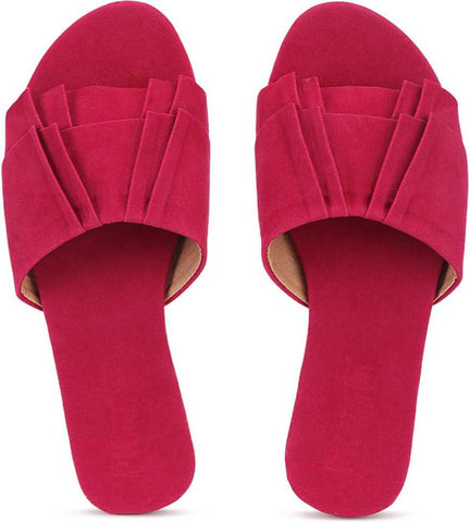 PKKART Red Flats For Women and Girls (New-Red-005) - Ambitionmart