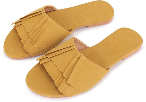 PKKART Yellow Flats For Women and Girls (New-Yellow-005) - Ambitionmart