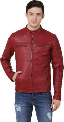 Ejebo Full Sleeve Solid Cherry Men's Jacket - Ambitionmart