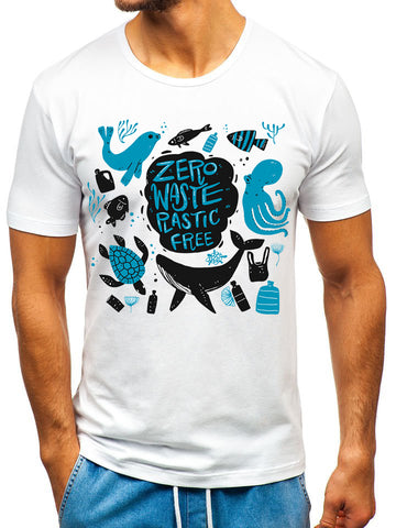 Ejebo Mens Graphic T-Shirt - Ambitionmart