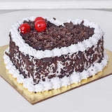 BLACK FOREST HEART SHAPE CAKE - Ambitionmart