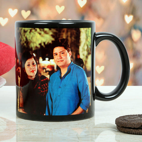 Ejebo Personalised Couple Black Mug - Ambitionmart