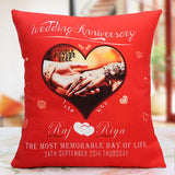 Ejebo Personalized Anniversary Cushion - Ambitionmart