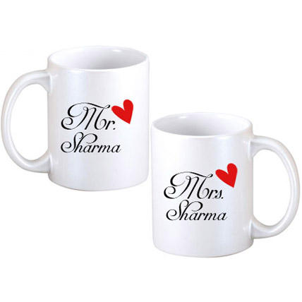 Ejebo Personalized Couple Mugs Combo (Pack Of 2) - Ambitionmart