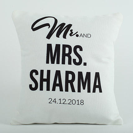 Ejebo Personalized Cushion Mr N Mrs - Ambitionmart