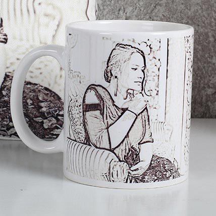 Ejebo Personalized Sketch Mug - Ambitionmart