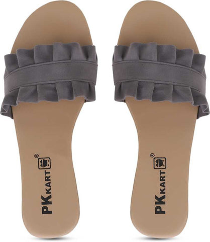 PKKART Grey Flats For Women and Girls - Ambitionmart